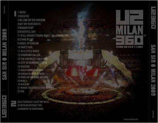 U2 -360° Tour -07/07/2009 -Milan -Italie -San Siro