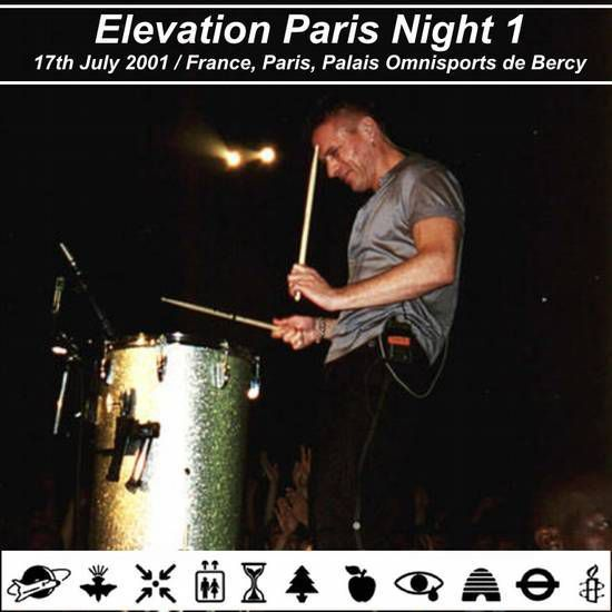 U2 -Elevation Tour -17/07/2001 -Paris -France- Palais Omnisports De Paris Bercy #1