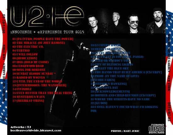 U2 -Innocence + Experience Tour -23/07/2015 -New York -Etats-Unis - Madison Square Garden #4