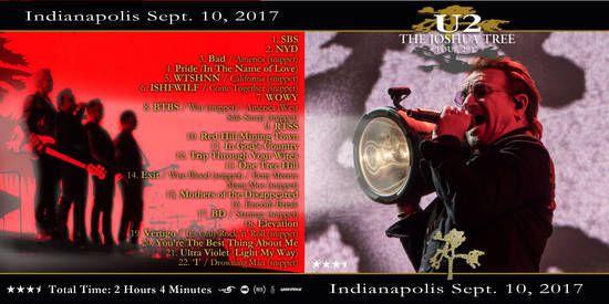 """Le dernier concert de U2 dans cet état remonte au 10 octobre 2001 sur la tournée Elevation Tour ,Apparition du nouveau titre dans cette setlist: """"You're The Best Thing About Me"""""""