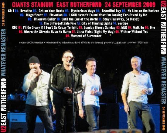 U2 -360° Tour -24/09/2009 -New York -USA -New Jersey -Giants Stadium #2