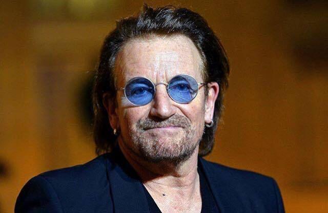Bono et le président du Parlement européen Antonio Tajani -Bruxelle 10-10-2018