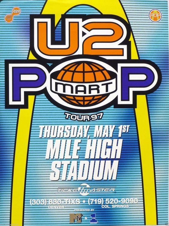 U2 -Affiche concert -Denver -USA 01/05/1997 -Mile High Stadium