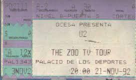 U2 -ZOO TV Tour -21/11/1992 -Mexico -Mexique -Palacio De Los Deportes #1