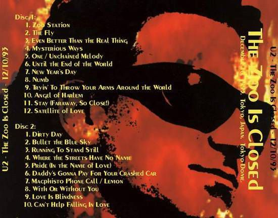 U2 -ZOO TV Tour -10/12/1993 Tokyo -Japon Egg Dome #2