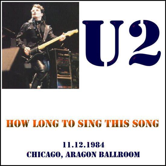 U2 -Unforgettable Fire Tour -11/12/1984 -Chicago -USA -Aragon Ballroom