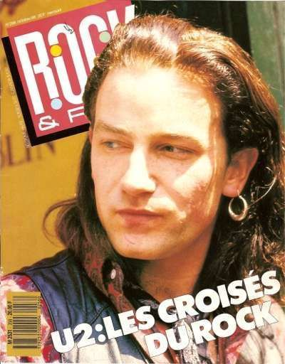 U2- Magazine Rock & Folk n°256 -Octobre 1988