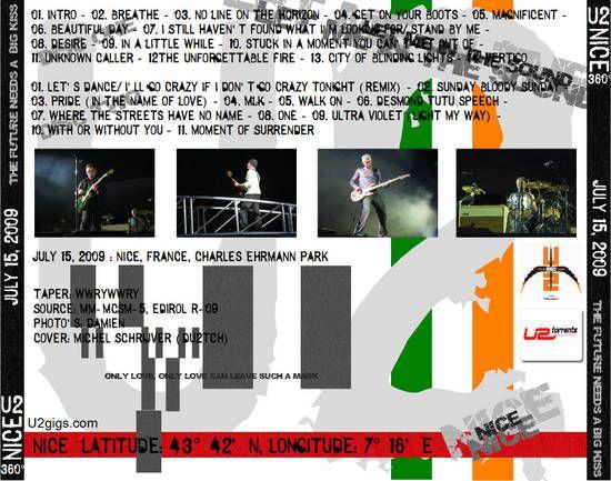 U2 -360° Tour -15/07/2009 -Nice -France -Parc des Sports Charles Ehrmann