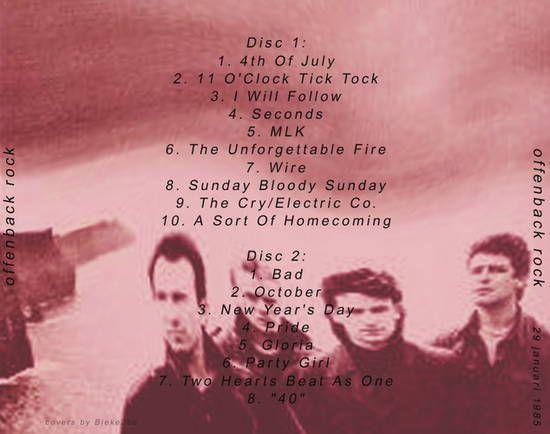 U2 -Unforgettable Fire Tour -29/01/1985 -Offenback -Allemagne -Stadhalle