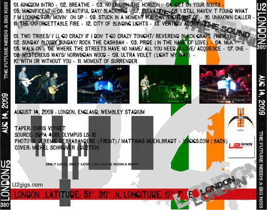 U2 -360°Tour -14/08/2009 -Londres  -Angleterre -Wembley Stadium #1