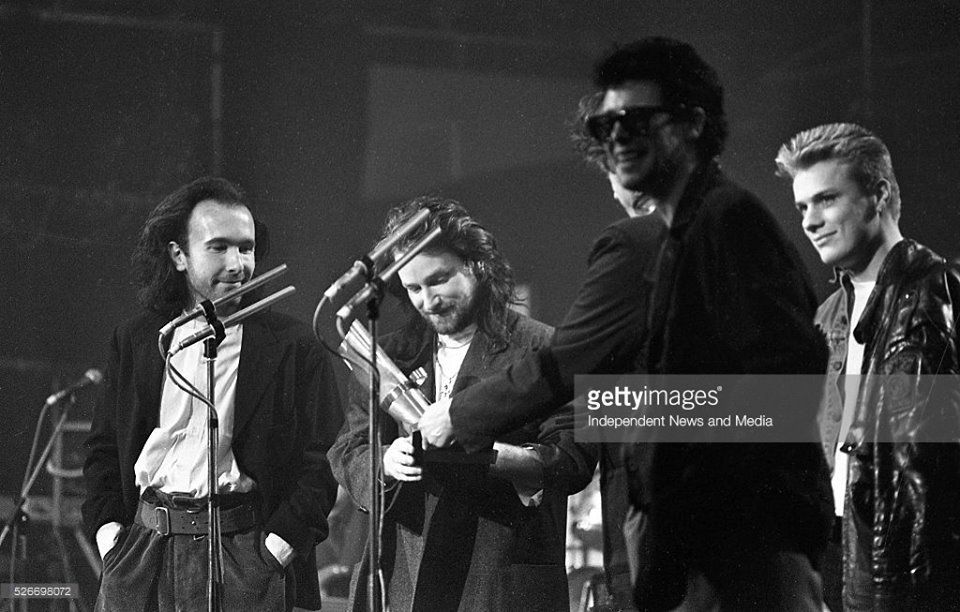 U2 -Milk Music Awards -Salle de concert nationale -Dublin 13/03/1986