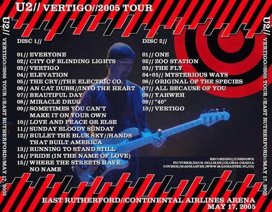 U2 -Vertigo Tour -17/05/2005 -East Rutherford, NJ -USA -Continental Airlines Arena #1