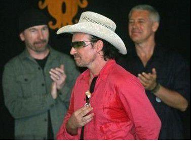 U2 et le président portugais Jorge Sampaio -Belem Palace-Lisbon -14/08/2005
