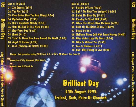 U2 -ZOO TV Tour -24/08/1993 -Cork -Irlande -Pairc Ui Chaoimh