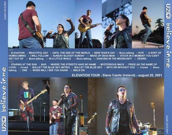 U2 -Elevation Tour -25/08/2001 -Dublin -Irlande -Slane Castle