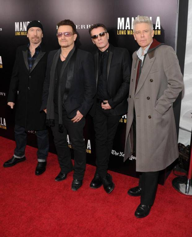 U2 - screening of 'Mandela: Long Walk to Freedom ' Théâtre Ziegfeld -25/11/2013