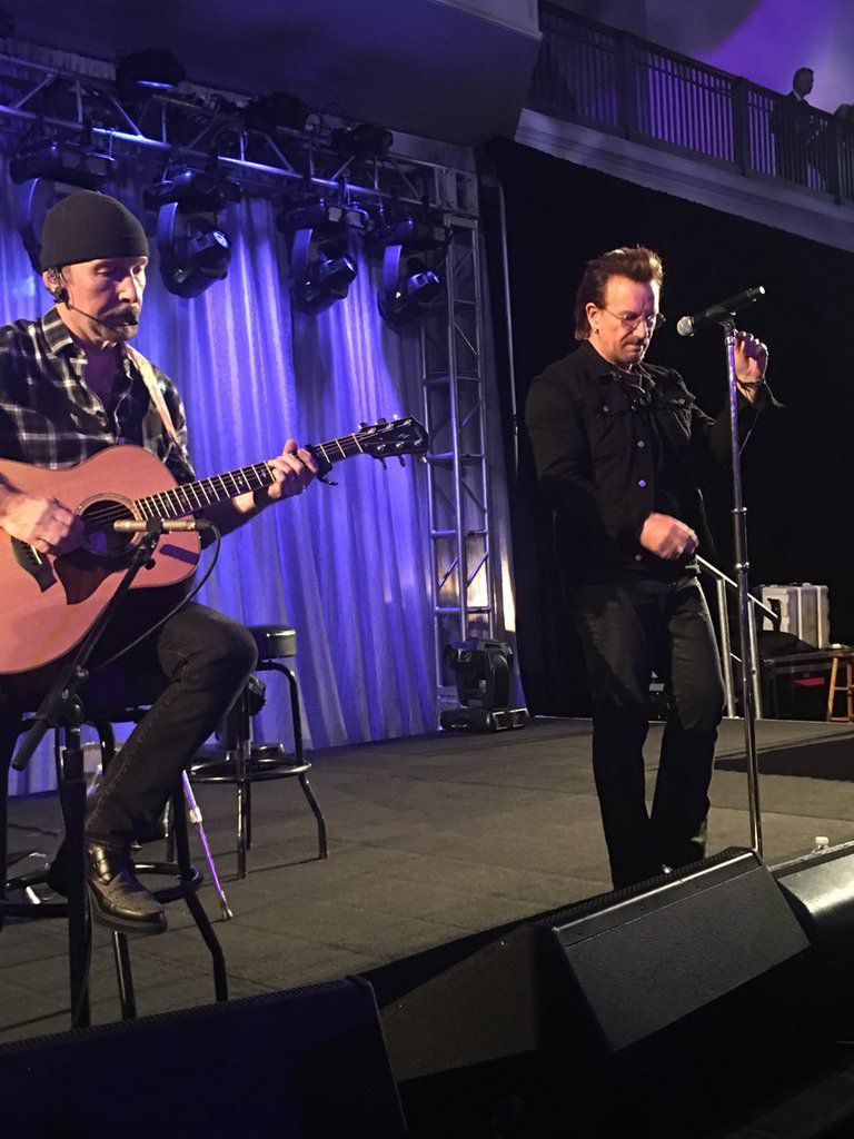 Bono et The Edge - American Museum of Natural History Gala 30/11/2017