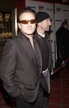 Bono et The Edge - Irish Premiere of 'Gangs of New York' -Savoy Cinema - Dublin -09/01/2003