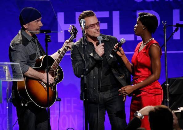 U2 -3e édition annuelle de Sean Penn & Friends Help Haiti Home -Beverly Hills -11/01/2014