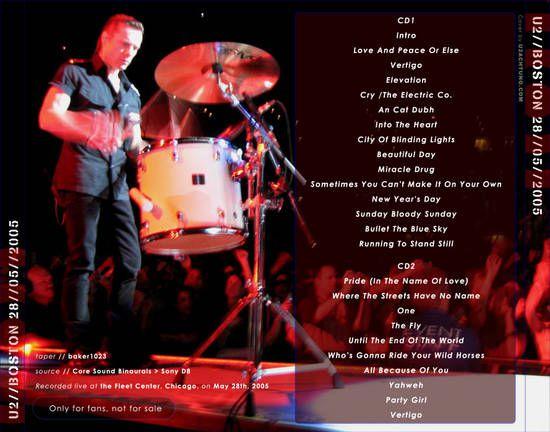 U2 -Vertigo Tour -28/05/2005 -Boston -MA -USA -Fleet Center #3