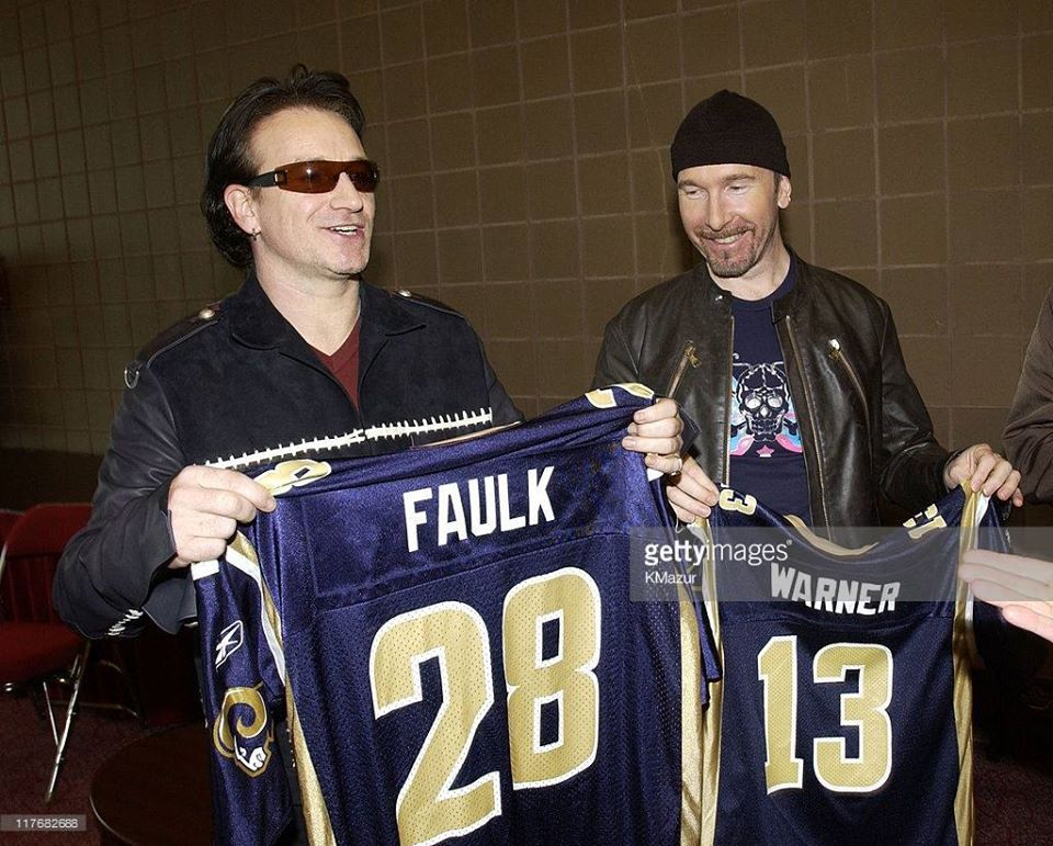 U2 - Super Bowl XXXVI Press Conference -Superdom -Louisiane -30/01/2002