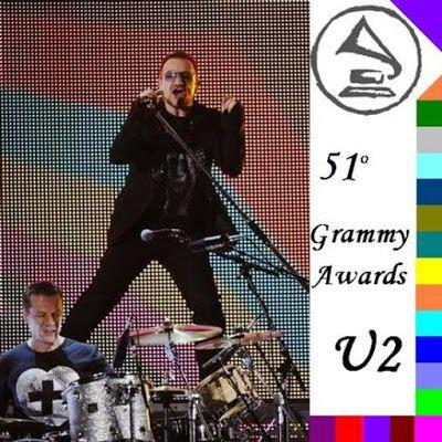 """U2 ouvre les 51e Grammy Awards avec les débuts en direct de """"Get On Your Boots""""."""