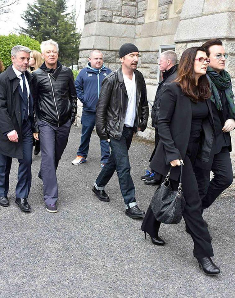 U2 - Funérailles du DJ Tony Fenton -Église du Sacré-Cœur -Irlande -16/03/2015