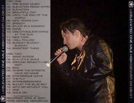 U2 -Elevation Tour -09/04/2001 -Calgary -Canada -Saddledome