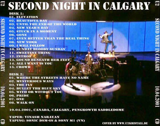 U2 -Elevation Tour -10/04/2001 -Calgary -Canada -Saddledome