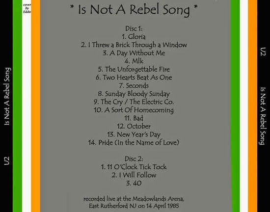 U2 -Unforgettable Fire Tour -14/04/1985 -East Rutherford -USA -Brenden Byrne Arena #2