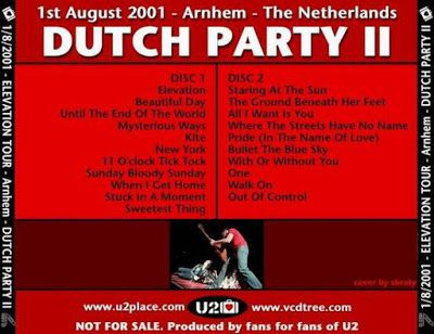 U2 -Elevation Tour -01/08/2001 -Arnhem -Pays-Bas -Gelredome #2