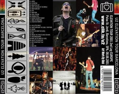 U2 -Elevation Tour -08/08/2001 -Barcelone -Espagne -Palau Sant Jordi
