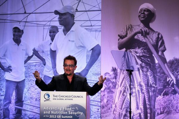 Bono - Symposium sur l'agriculture mondiale et la sécurité alimentaire -Washington -18/05/2012