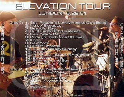 U2 -Elevation Tour -22/08/2001 -Londres -Angleterre -Earls Court #4