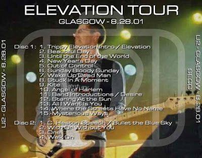 U2 -Elevation Tour -28/08/2001 -Glasgow Ecosse -Scottish Exhibition and Conference Centre #2