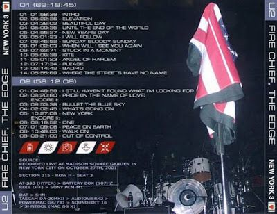 U2 -Elevation Tour -27/10/2001 -New-York USA ,Madison Square Garden #3