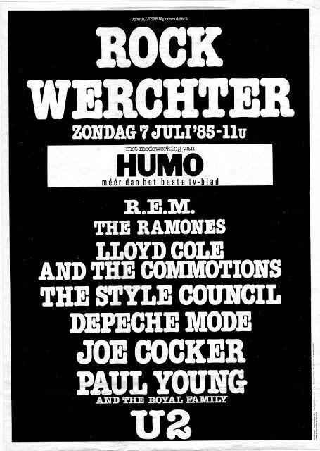 U2 -Unforgettable Fire Tour -07/07/1985 -Werchter -Belgique -Festival Grounds
