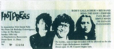 U2 -Early Days -18/07/1979 -Meeting Place - Dublin -Irlande