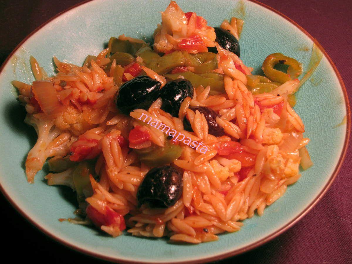 one pot pasta végétal.....au rice cooker