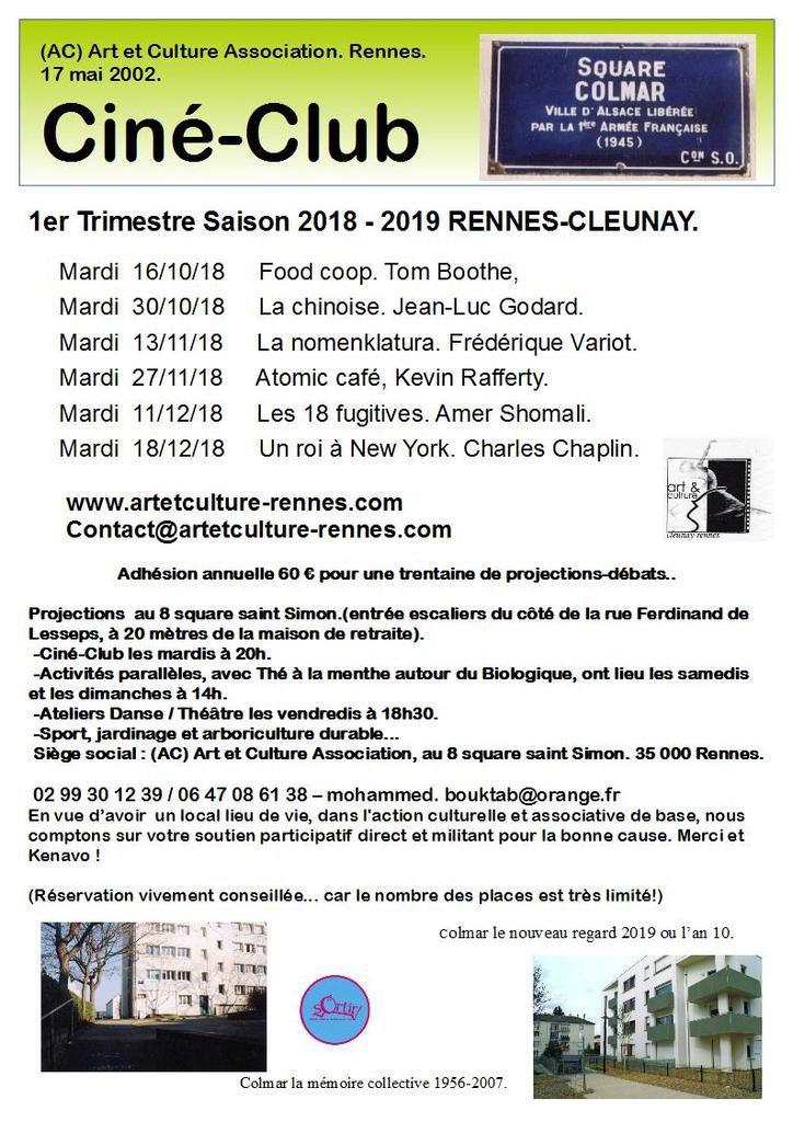 Ciné-Club saison 2018-19