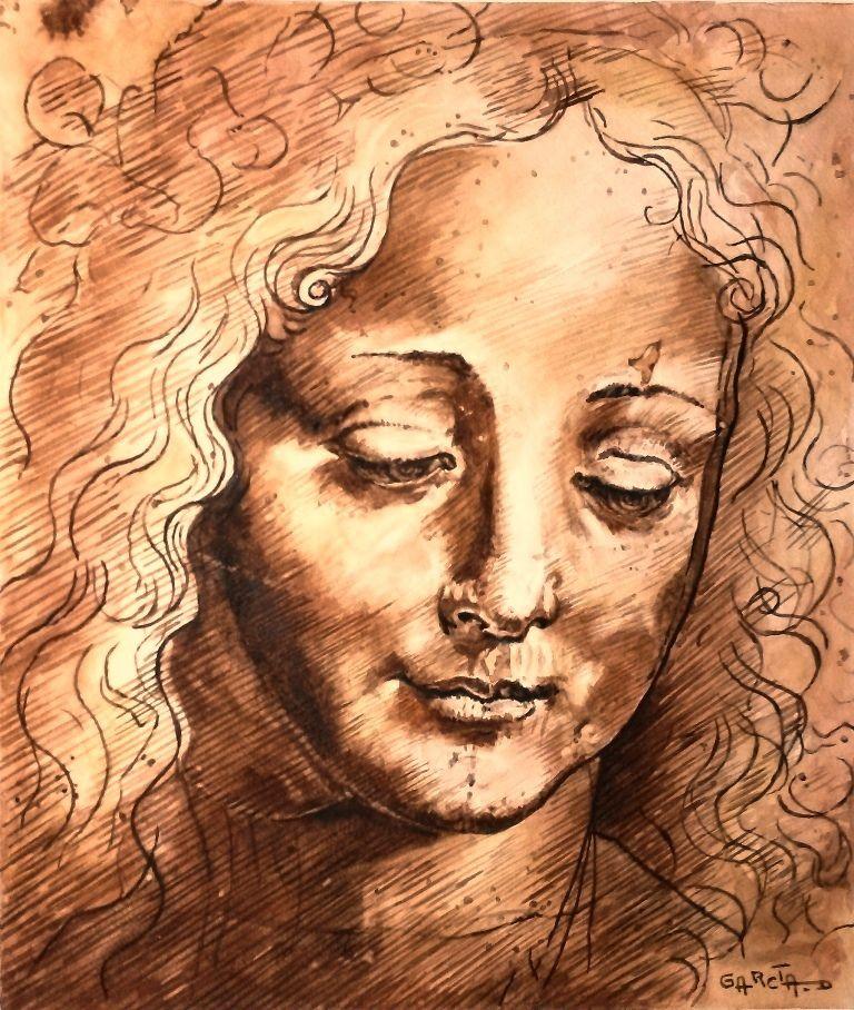 - Testa di Giovinetta - d'après Leonardo da VINCI