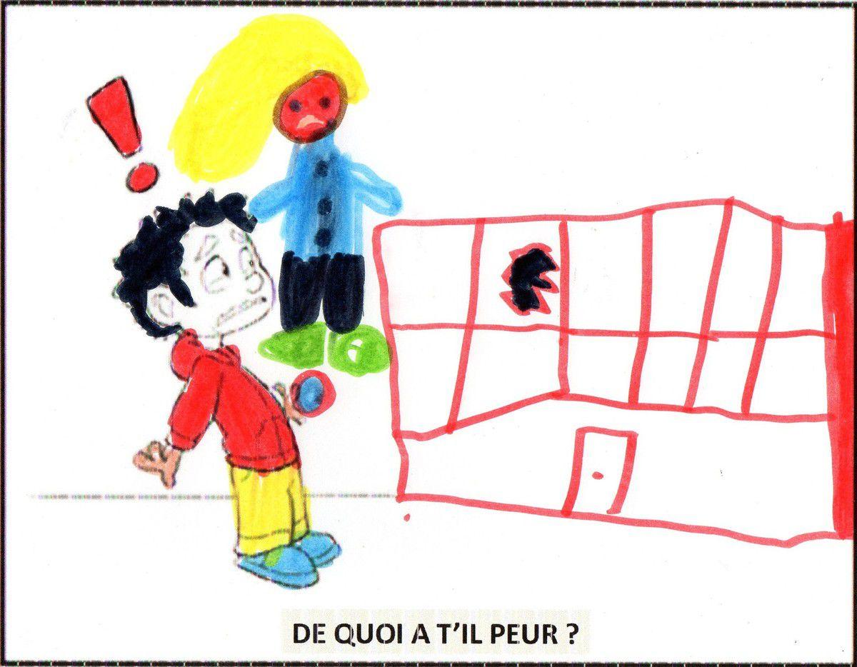 """NASSIME: """"la maîtresse est rouge de colère : la vitre de l'école a été cassée par le ballon"""" !"""