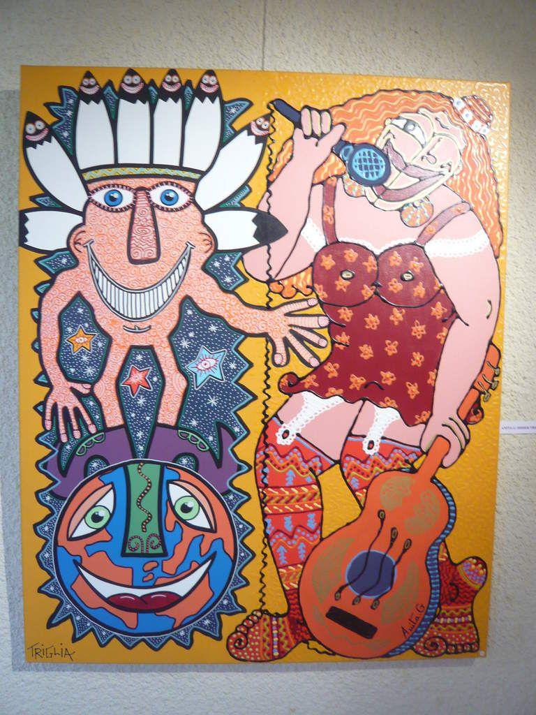 DIDIER TRIGLIA et ANITA GARCIA (peinture à 4 mains)