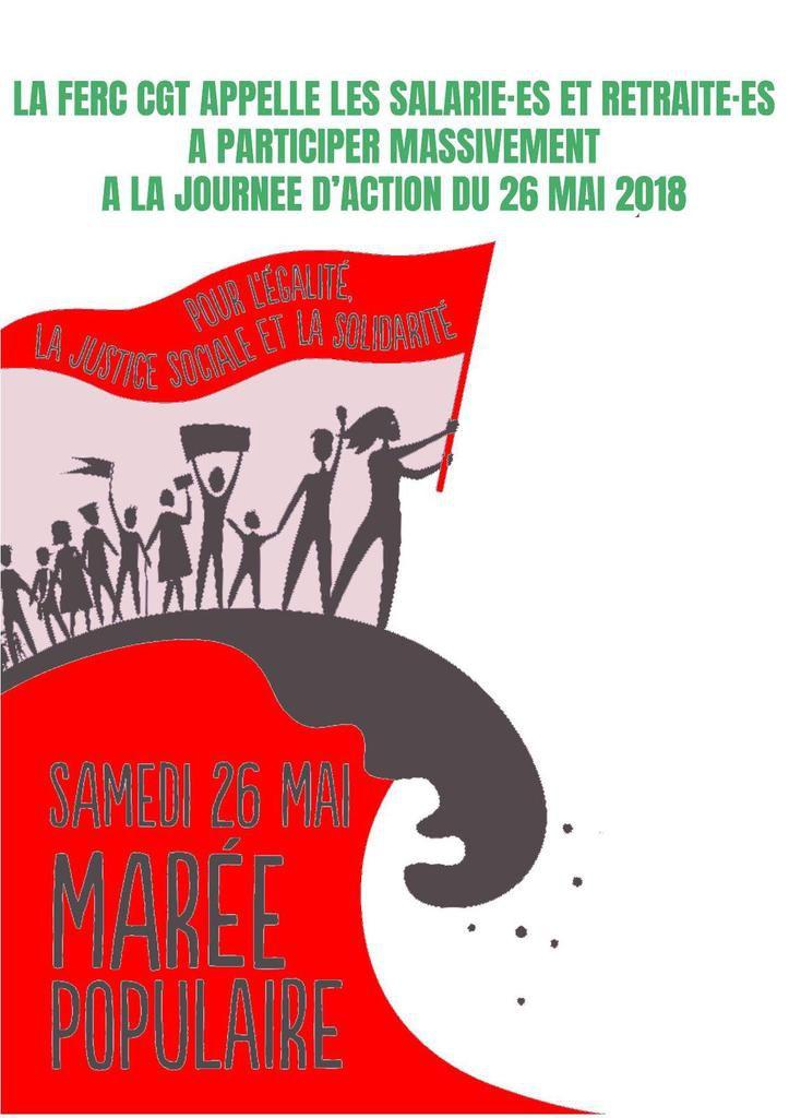 Marée populaire du 26 mai : le tract de la FERC-CGT