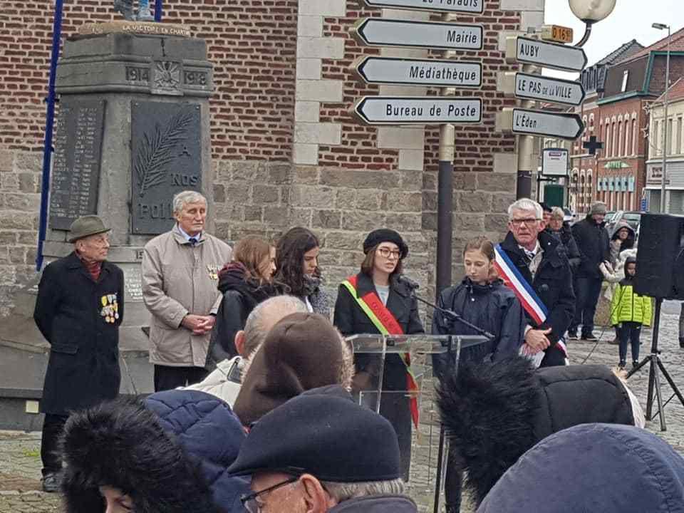 Aux commémorations du 11 novembre à Leforest
