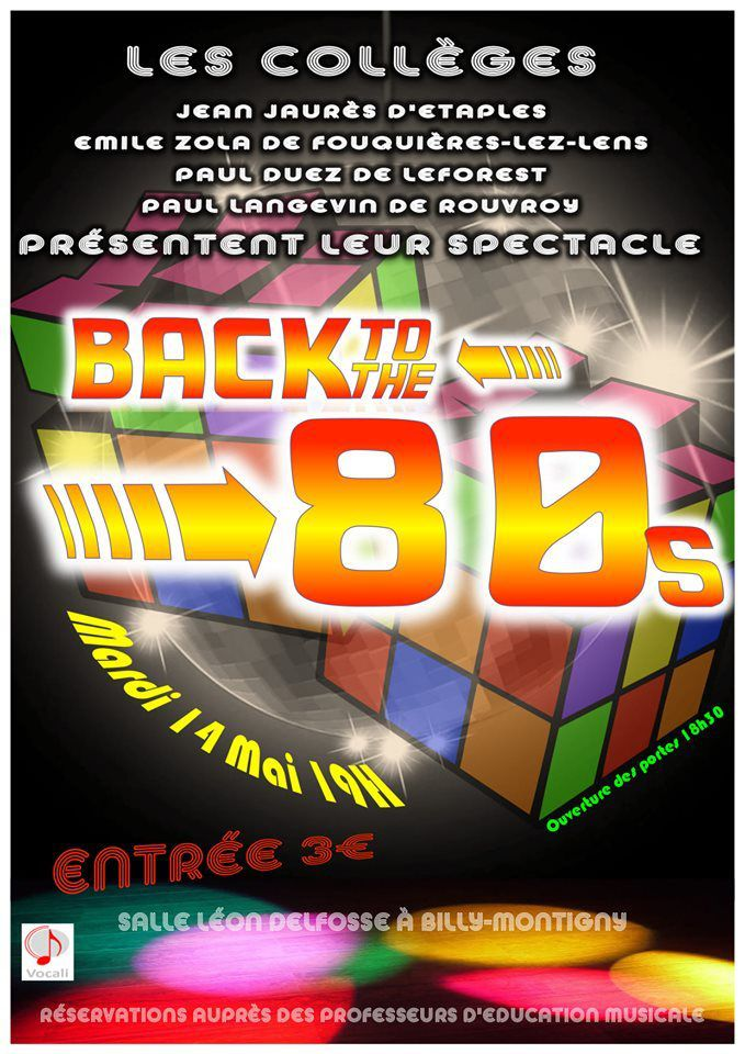 Back to the 80s : ne manquez pas le spectacle de chorale ce mardi 14 mai à Billy-Montigny !