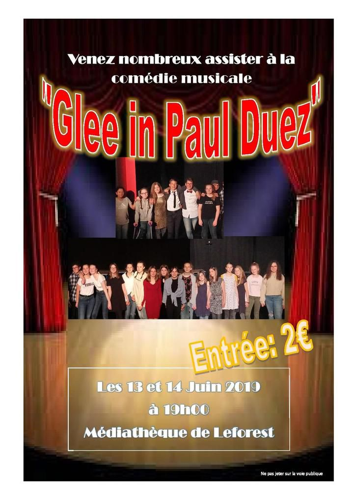 Glee in Paul Duez, le spectacle !