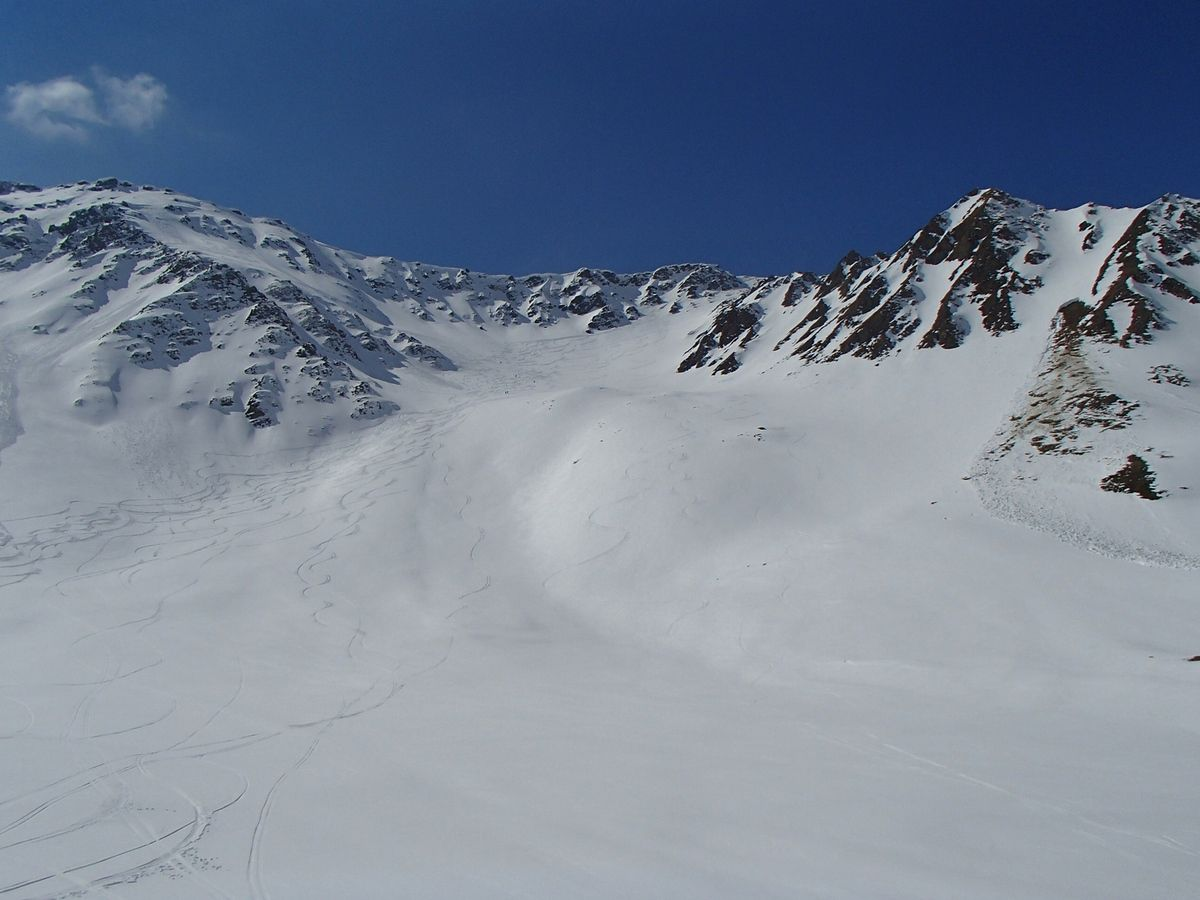 Les grandes pentes du Mont fortin.