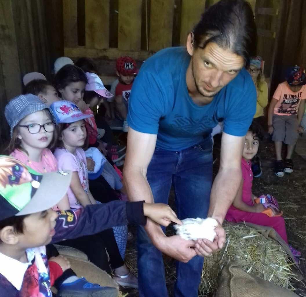 Visite à la ferme pour les écoliers de Pont