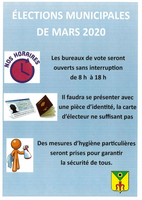 Elections municipales : Mesures de prévention